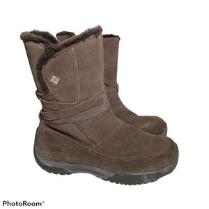 Columbia Boots Size 8.5 Namara Brown Suede Snow